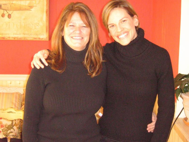 Betty Anne Waters & Hilary Swank in Bristol, RI