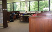 Individual study spaces